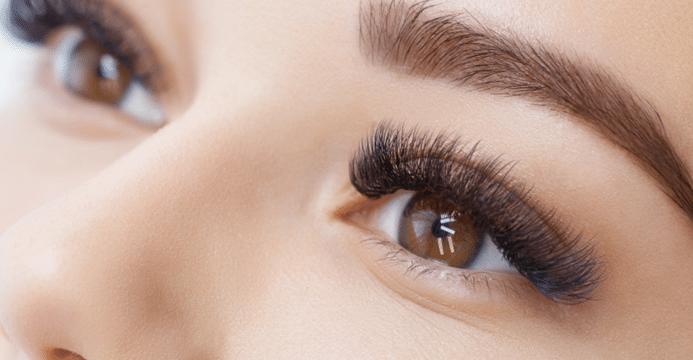 eyelash extension before wedding day